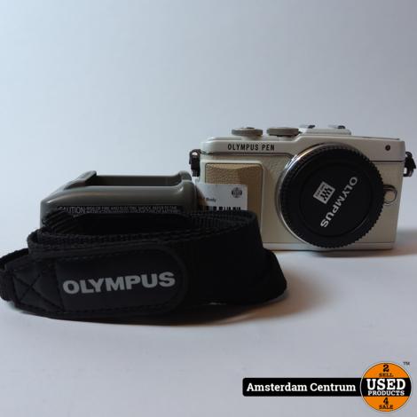 OLYMPUS Pen Lite E-PL7 Body Wit/White   Incl. lader en garantie