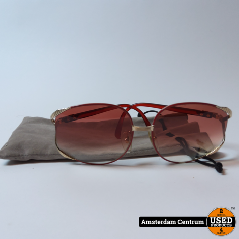 Christian Dior 2250 Vintage Red/Gold   In nette staat