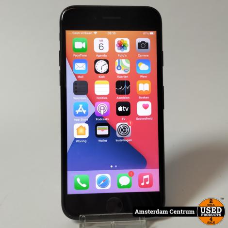 iPhone 7 128GB Jet Black   Incl. lader en garantie