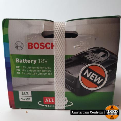 Bosch Accu 18V Lithium-Ion 4,0 Ah | Nieuw in Seal