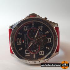 Tommy Hilfiger TH-1985 Horloge met rode band | incl. Garantie