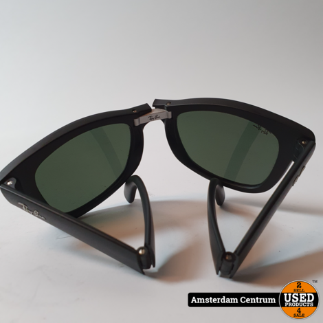 Ray-Ban RB4105 Folding Wayfarer Heren Zonnebril | Excl. hoes