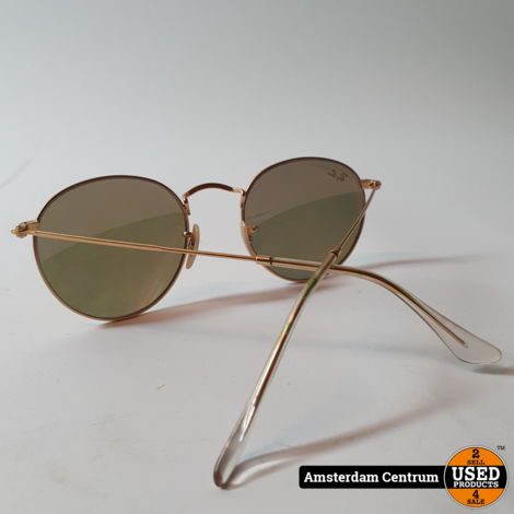 Ray-Ban RB-3447 Round Metal Goud | Nette staat