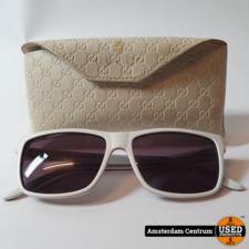 Gucci GG-1024 GRL Dames Zonnebril Wit/White   Incl. hoes