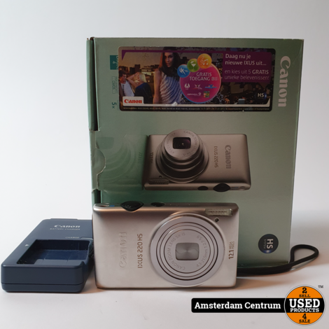 Canon Ixus 220HS 12.1MP Digitale Camera | Incl. garantie