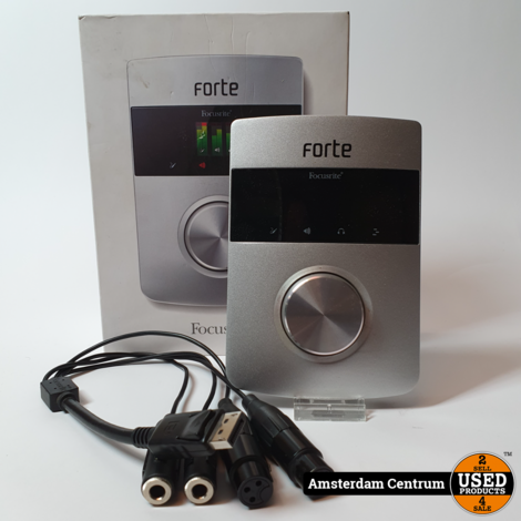 Focusrite Forte Audio Interface Zilver    Incl. doos en garantie
