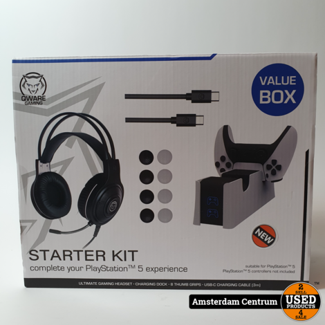 Qware Playstation 5 Starter Kit   Nieuw in seal