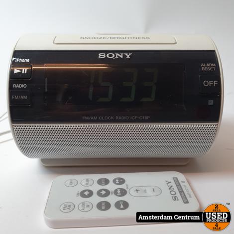 Sony ICF-C11iP Clock Radio Lightning | Incl. garantie