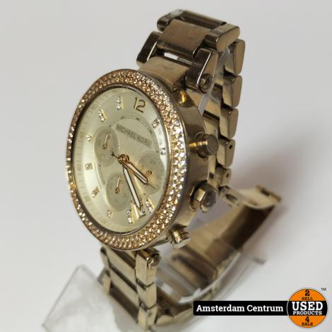 Micheal Kors MK-5538 Goud Dames Horloge   Incl. garantie
