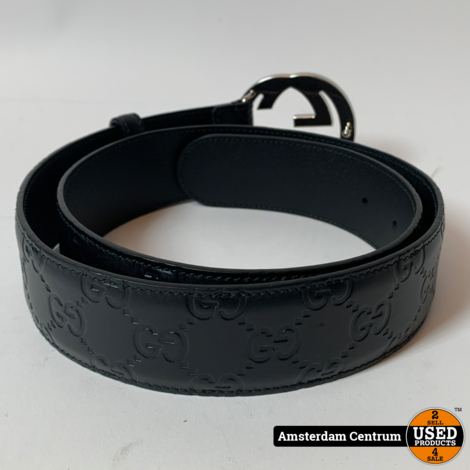 Gucci 411924 Signature Leather Belt   Nette staat
