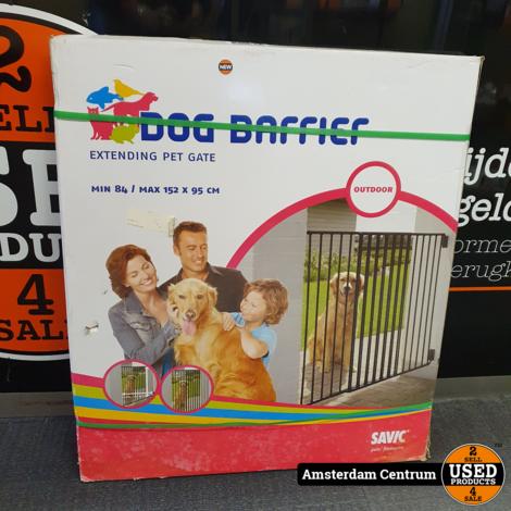 Dog Barrier Gate Outdoor min84/max154x95cm   Nieuw in doos