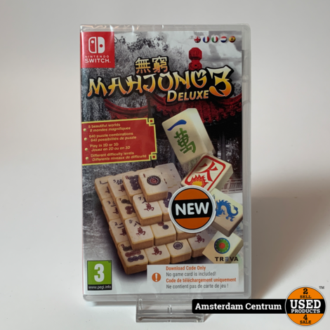 Nintendo Switch Game : Switch Mahjong Deluxe 3   Nieuw