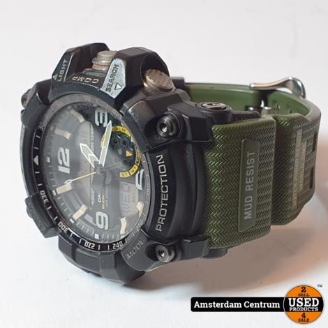 Casio G-Shock GG-1000-1A3 Mudmaster Heren horloge Zwart/Groen   Nette staat in doos