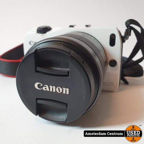 Canon EOS M Wit/White + 18-55mm IS STM + Speedlight 90 EX | In nette staat