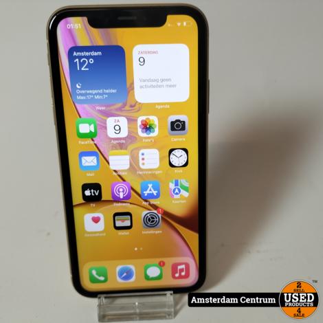 iPhone XR 64GB Geel/Yellow   Nette staat
