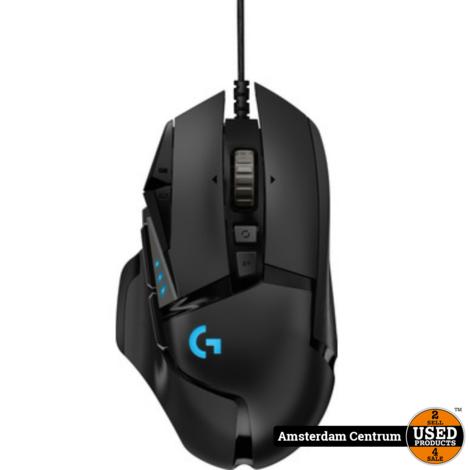 Logitech G G502 HERO Zwart Gaming mouse   ZGAN