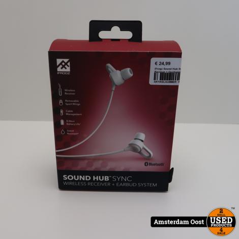 iFrogz Sound Hub Sync Draadloze Receiver + Oordopjes | Nieuw