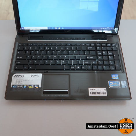 MSI CR61 i3/4GB/320GB HDD Laptop | in Redelijke Staat