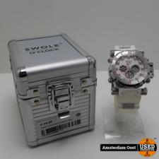 Swole O clock wit horloge in doos