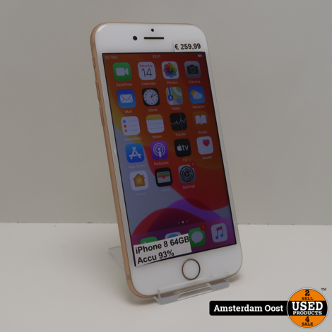 iPhone 8 64GB Gold   In Nette staat