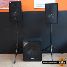 Vonyx SL12 PA met SMW18 SUB Speakerset | in Nette Staat