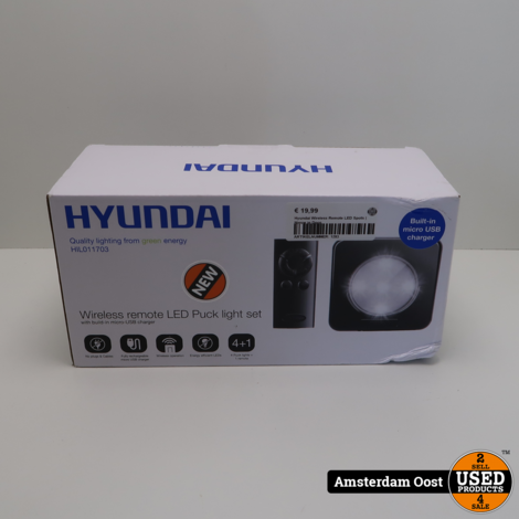 Hyundai Wireless Remote LED Spots | Nieuw in Doos