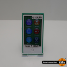 iPod Nano 7th Gen 16GB Groen | in Prima Staat