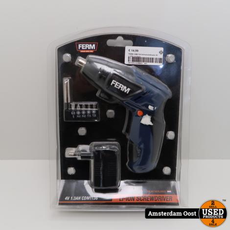 FERM CDM1136 Schroevendraaier 4V 1.3AH | In Doos