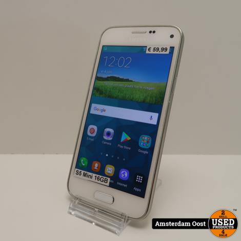 Samsung Galaxy S5 Mini 16GB White   in Prima Staat