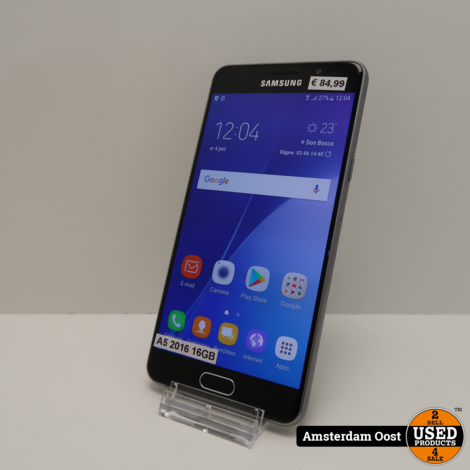 Samsung Galaxy A5 2016 16GB Black   in Nette Staat