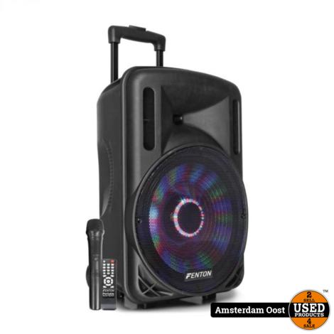 Fenton FT12LED 700W Draagbare BT Karaoke Speaker | Nieuw