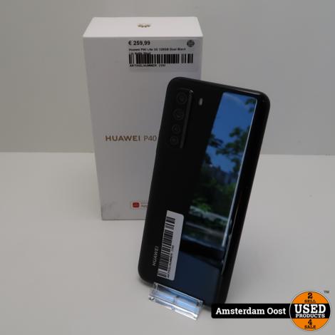 Huawei P40 Lite 5G 128GB Dual Black   in Nette Staat