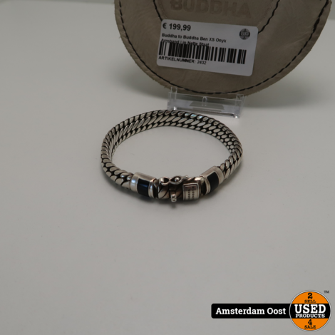 Buddha to Buddha Ben XS Onyx Armband | in Nette Staat