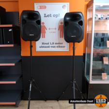 Vonyx SPS122 700W Actieve Speakerset met Statief   Nieuw