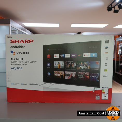 Sharp 40BL5EA 4K Ultra HD 40 Inch Android Smart LED TV | Nieuw