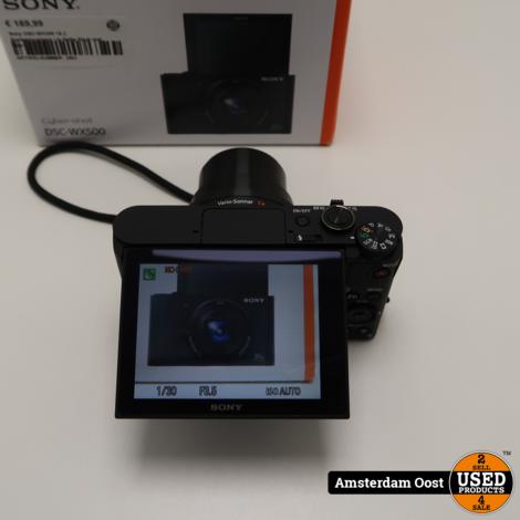 Sony DSC-WX500 18.2 Systeemcamera | in Nette Staat met Bon