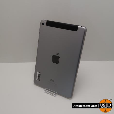iPad Mini 4 16GB 4G + Wifi Space Gray   in Redelijke Staat