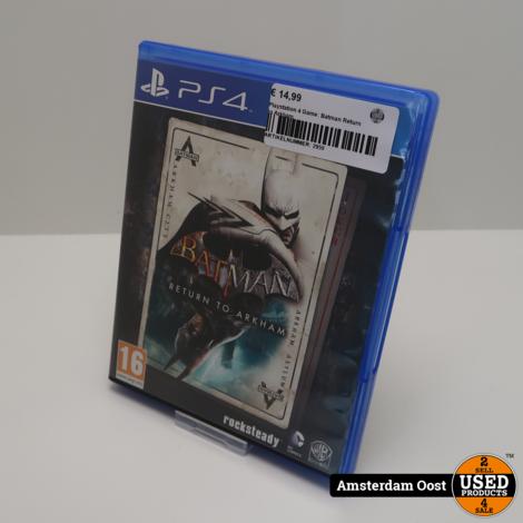 Playstation 4 Game: Batman Return to Arkham