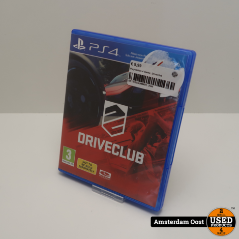 Playstation 4 Game: Driveclub