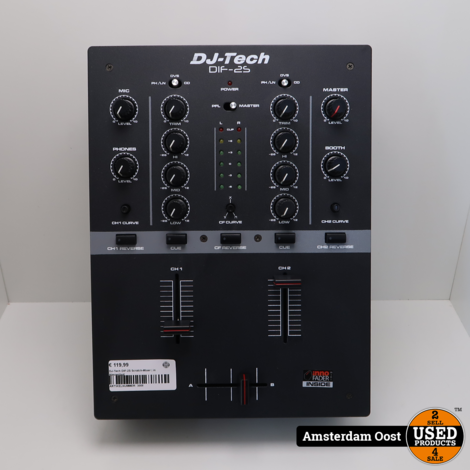 DJ-Tech DIF-2S Scratch-Mixer | in Nieuwstaat