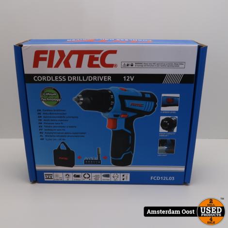 Fixtec FCD12L03 12V Accuschroefmachine | Nieuw