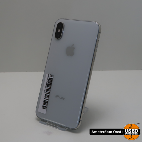 iPhone XS 64GB Silver   in Nette Staat