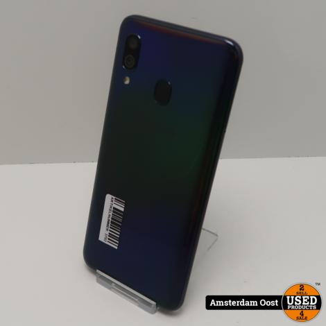 Samsung Galaxy A40 64GB Dual-Sim Black   in Nette Staat