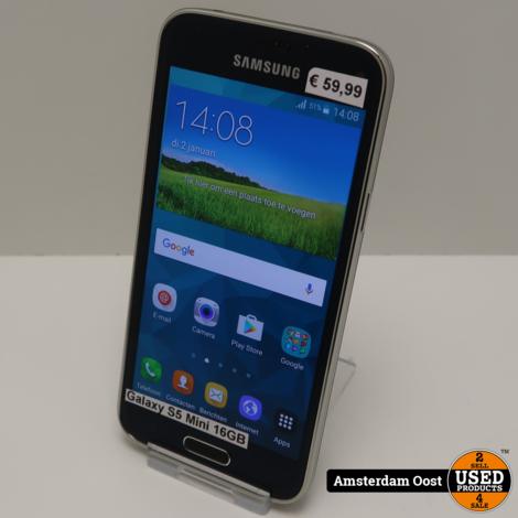 Samsung Galaxy S5 Mini 16GB Black   in Nette Staat