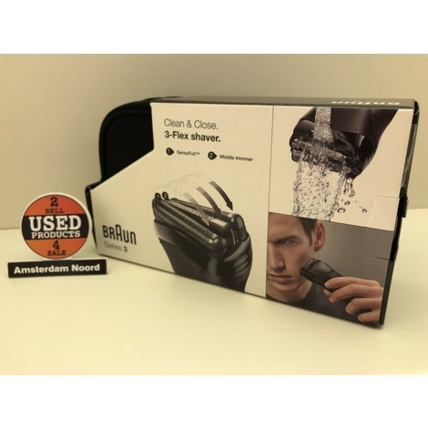 Braun Series 3 clean & close flex shaver Nieuw