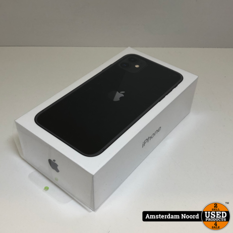 Apple iPhone 11 64GB Zwart (Nieuw)