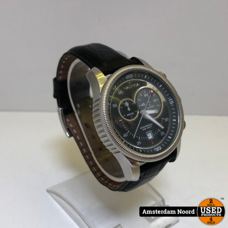 Nautica Chronograaf N12527 Heren Horloge met leren band