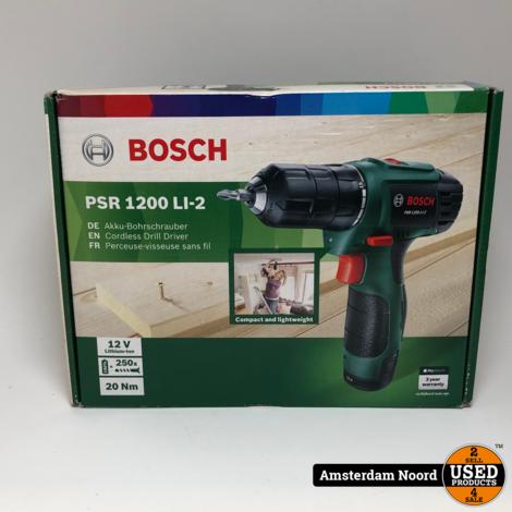 Bosch PSR 1200 LI-2 accuboor/schroef