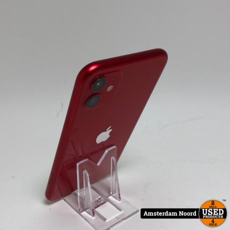 Apple iPhone 11 64GB Red (Nieuwstaat)