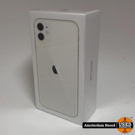 Apple iPhone 11 64GB Wit (Nieuw+Bon)